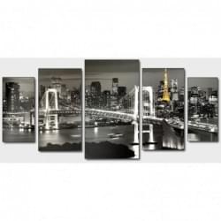 Pětidílný dekorační obraz - Město - 5D_00001