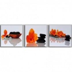 Třidílný dekorační obraz s motivem květin - 3D_3090_00010