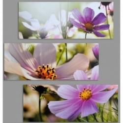 Třidílný dekorační obraz s motivem květin - 3D_6060_00001