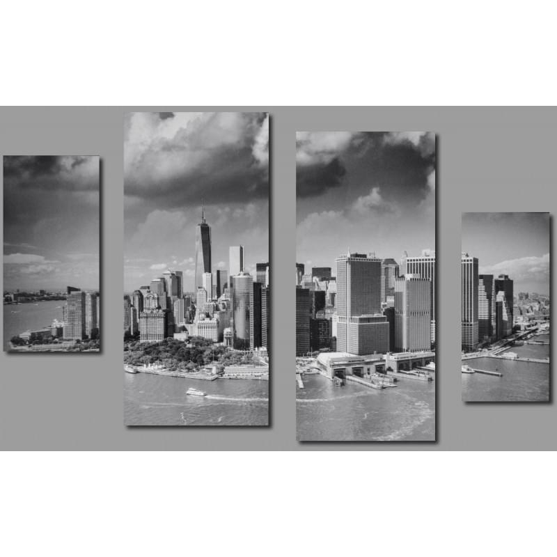 Čtyřdílný dekorační obraz s motivem New Yorku - 4D_10070_00008