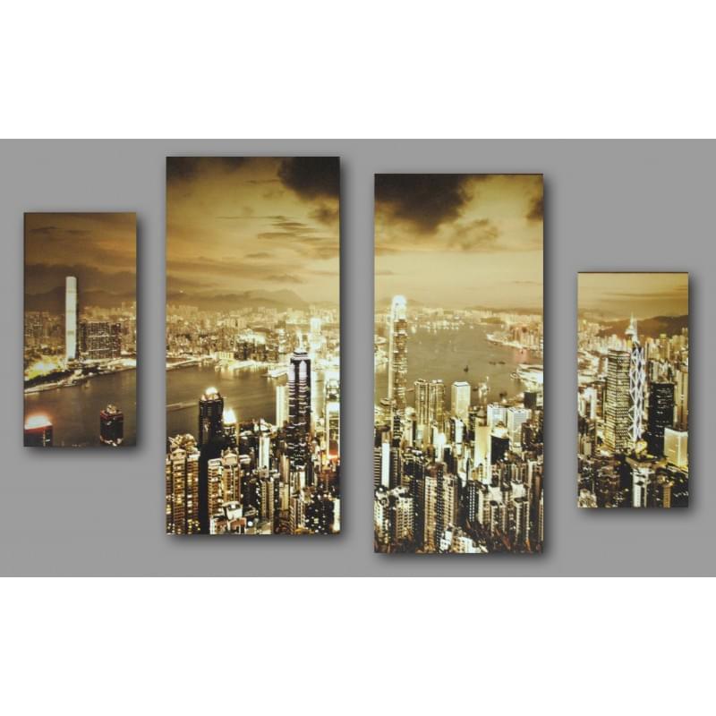 Čtyřdílný dekorační obraz  - 4D_10070_00009