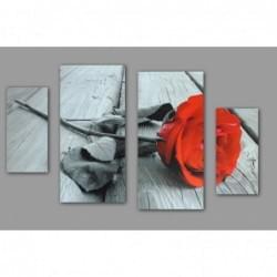 Čtyřdílný dekorační obraz s motivem Růží - 4D_10070_00011