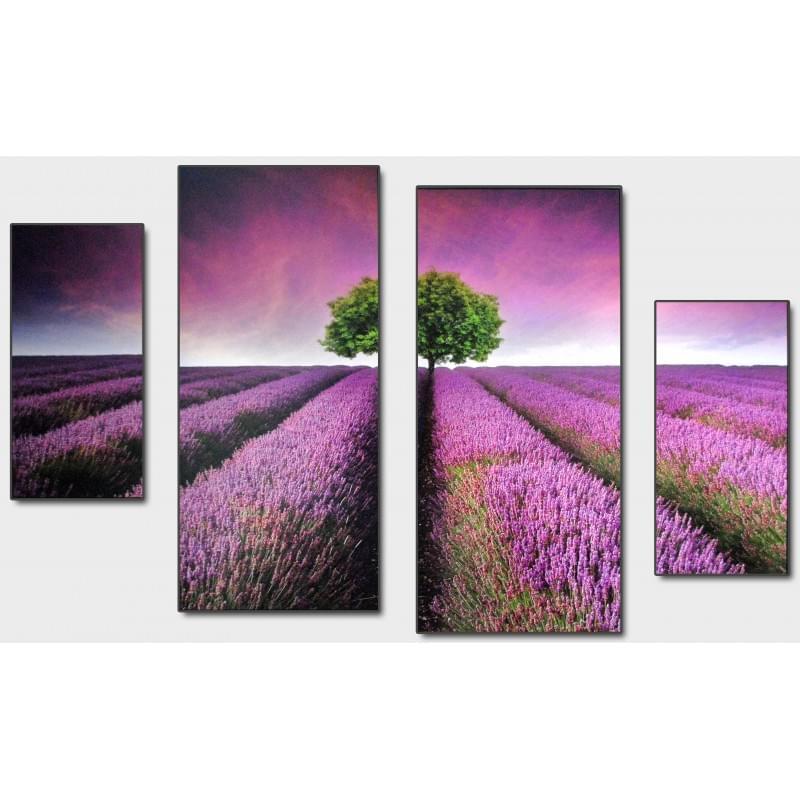 Čtyřdílný dekorační obraz - Louka - 4D_10070_00014