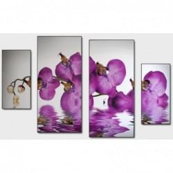 Čtyřdílný dekorační obraz - Orchydeje - 4D_10070_00015